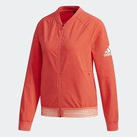 飛行外套推薦到ADIDAS JKT BOS BOMBER 女裝 外套 飛行外套 張鈞甯 休閒 舒適 橘紅【運動世界】CY9854就在運動世界推薦飛行外套
