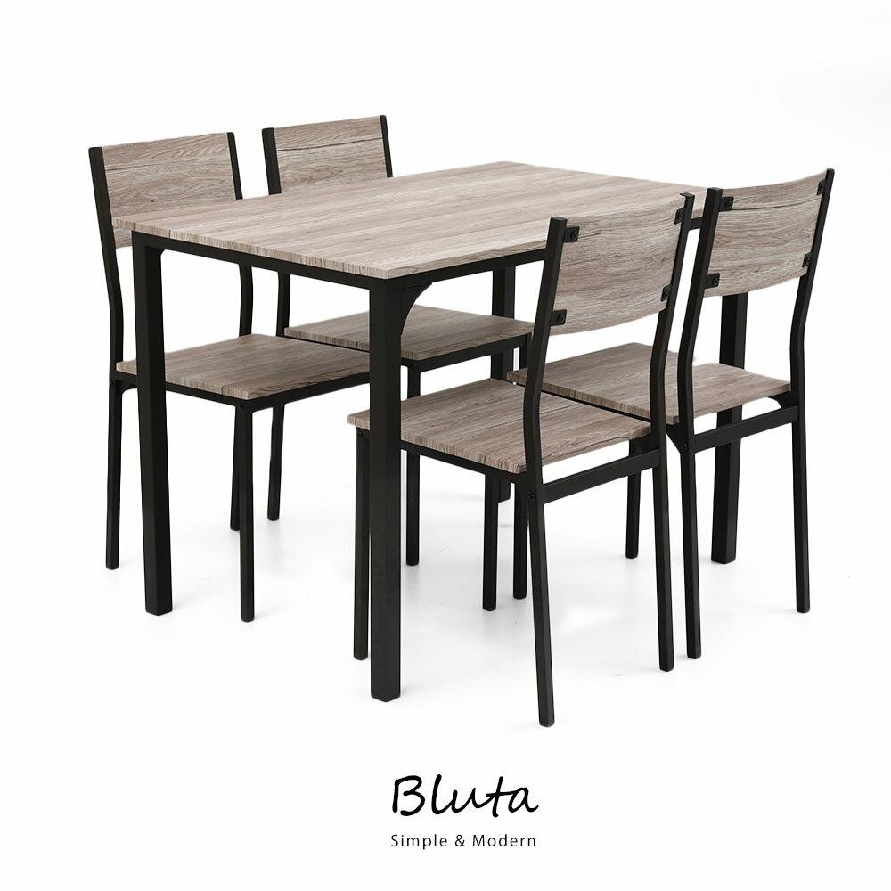 (預購-12月中發貨)Bluta 四人餐桌椅組 1