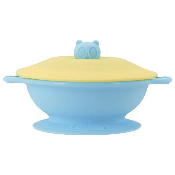 兒童防滑吸盤碗 附蓋 BL NITORI宜得利家居