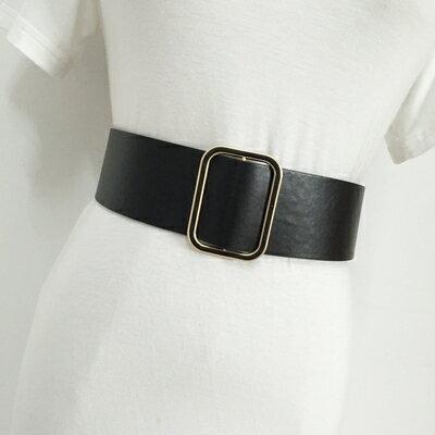 百搭寬腰封 大衣腰帶女士寬皮帶白色時尚簡約百搭韓國腰封裝飾配裙子黑色灰色 『MY5669』