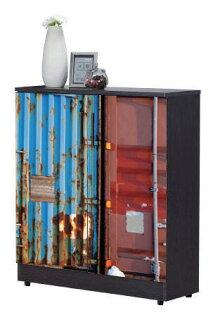 尚品傢俱:【尚品傢俱】JF-295-3尚恩2.7x3尺雙色貨櫃鞋櫃