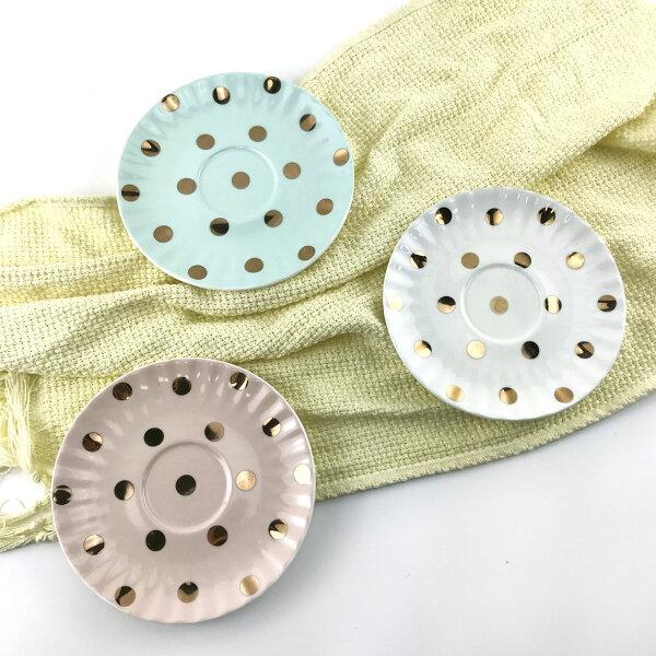 |現貨特價|鑲金點點小盤|陶瓷盤|現貨|