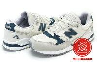 New Balance 美國慢跑鞋/跑步鞋推薦☆Mr.Sneaker☆NEW BALANCE 530 增高 麂皮 復古 白藍 女款 W530SA