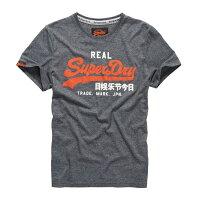 極度乾燥商品推薦到美國百分百【Superdry】極度乾燥 T恤 上衣 T-shirt 短袖 短T 圓領 鐵灰 LOGO 復古 S M L XL 2XL號 F315就在美國百分百推薦極度乾燥商品