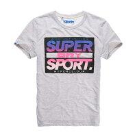 極度乾燥商品推薦到美國百分百【Superdry】極度乾燥 T恤 上衣 T-shirt 短袖 短T 圓領 復古 霓虹 螢光粉 灰色 S M L號 F340就在美國百分百推薦極度乾燥商品