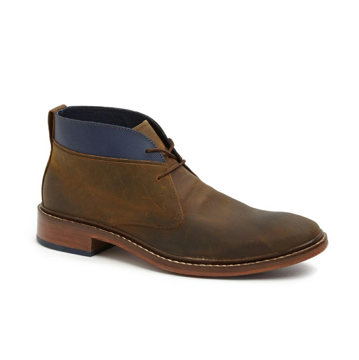 美國百分百【全新真品】Cole Haan 皮靴 工作靴 靴子 登山靴 中筒 沙漠靴 鞋子 男 咖啡色 8號 F368