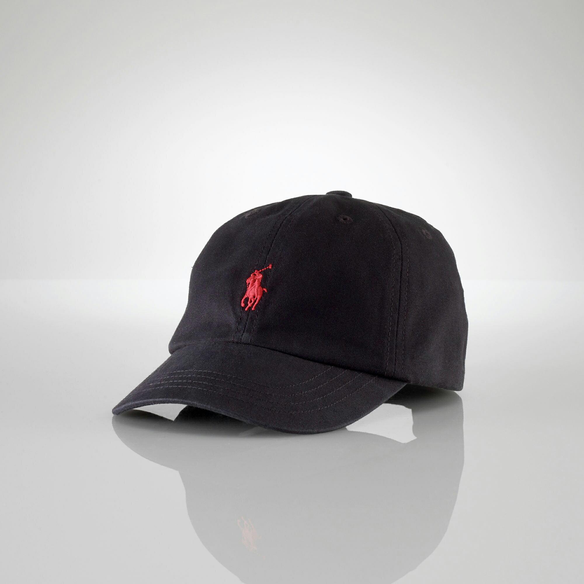 美國百分百【全新真品】Ralph Lauren 帽子 RL 配件 棒球帽 Polo 小馬 黑色 帆布 刺繡 男 A732