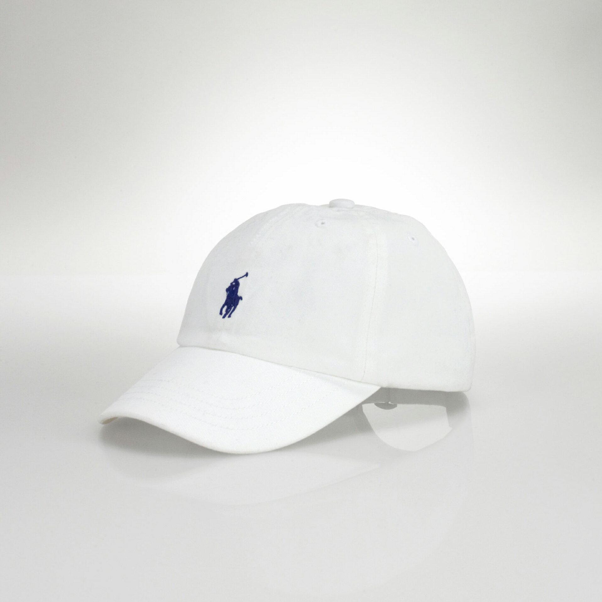 美國百分百【全新真品】Ralph Lauren 帽子 RL 配件 棒球帽 Polo 小馬 白色 帆布 刺繡 男 A732