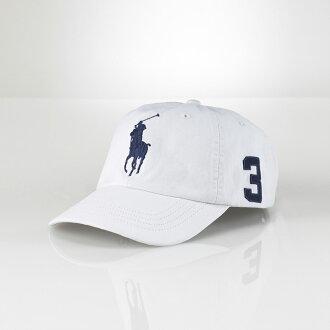 美國百分百【全新真品】Ralph Lauren 帽子 RL 配件 棒球帽 Polo 大馬 白色 男帽 遮陽帽 C482