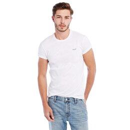 美國百分百T恤 AX 短袖 logo 上衣 T-shirt 白色 素T 男 S號 C753