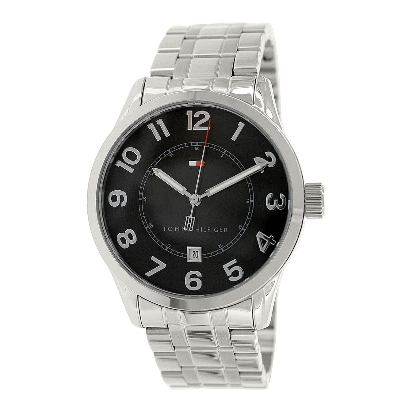 美國百分百【全新真品】Tommy Hilfiger 手錶 TH 配件 不鏽鋼 金屬錶帶 日期 夜光指針 銀色 F394