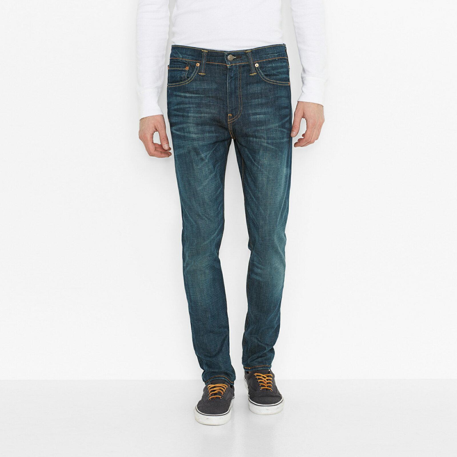 美國百分百【全新真品】Levis 510 Skinny Fit 男 牛仔褲 直筒 合身 窄版 單寧 刷色 青藍 28腰 E283