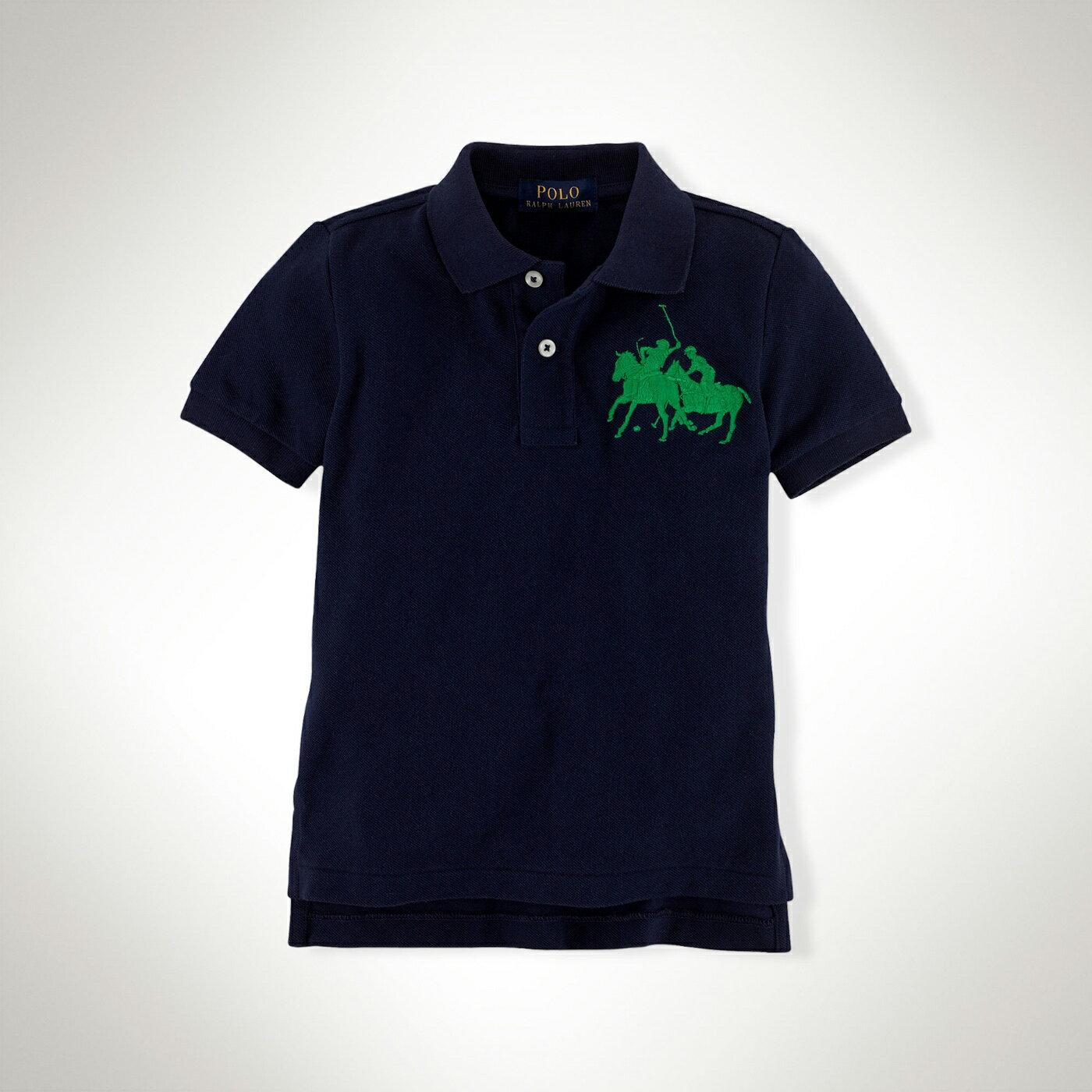 美國百分百【全新真品】Ralph Lauren Polo衫 RL 大馬 群馬 男 深藍 短袖 上衣 XS S號 F410