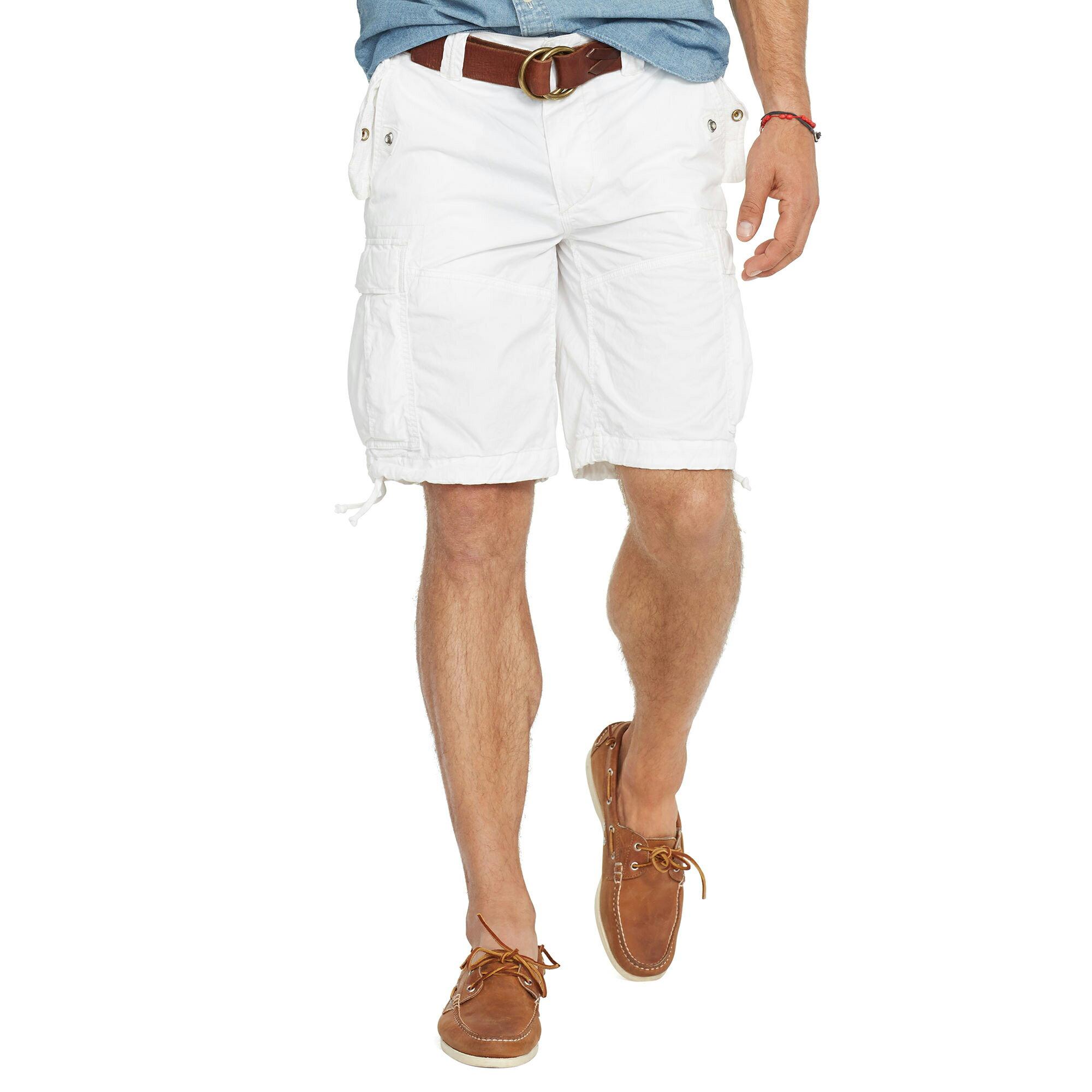 美國百分百【全新真品】Ralph Lauren 褲子 RL 男褲 POLO 短褲 工作褲 休閒褲 白色 30腰 F419