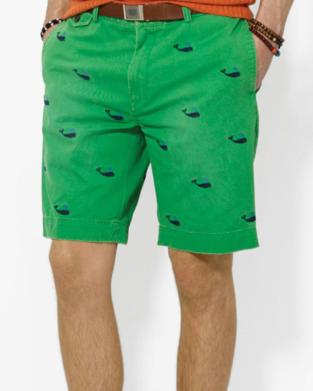美國百分百~Ralph Lauren~短褲 休閒褲 五分褲 褲子 Polo 鯨魚 動物 滿
