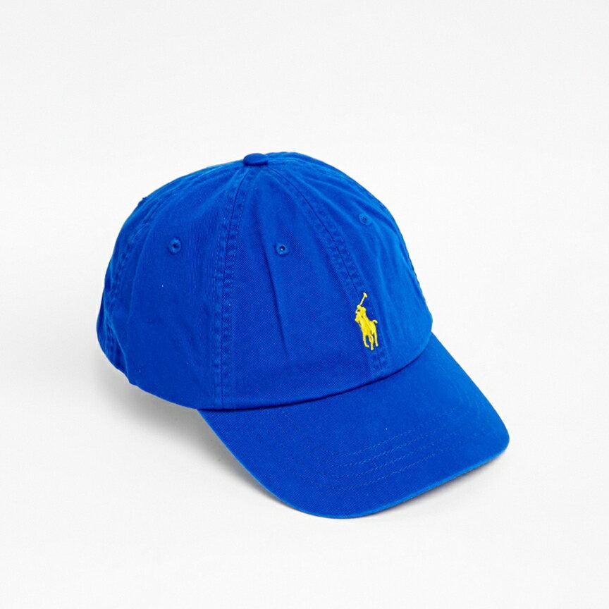 美國百分百【全新真品】Ralph Lauren 帽子 RL 配件 棒球帽 Polo 小馬 寶藍 帆布 刺繡 男 A732