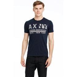 美國百分百【Armani Exchange】T恤 AX 短袖 上衣 logo 文字 T-shirt 白色 XS號 E821