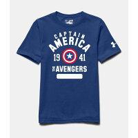 美國隊長周邊商品推薦美國百分百【Under Armour】運動時尚 UA T恤 Logo T-shirt 美國隊長 英雄 藍色 XS S號 F446
