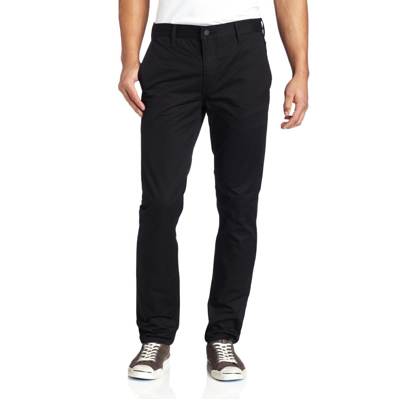 美國百分百【Levis】511 Slim Fit Chino 男 牛仔褲 休閒褲 直筒褲 合身 單寧 黑色 29 30 31腰 F454