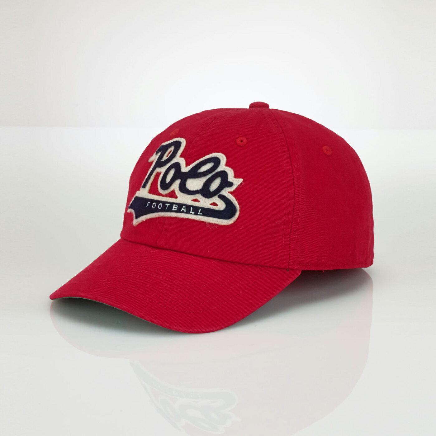 美國百分百【Ralph Lauren】帽子 RL 配件 棒球帽 Polo 小馬 復古 紅色 帆布 貼布 男 F470