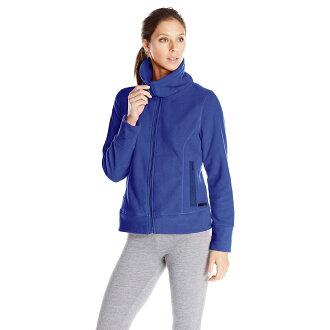 美國百分百【Calvin Klein】外套 CK 刷毛外套 輕巧 快乾 fleece 寶藍色 女 XS S號 B528