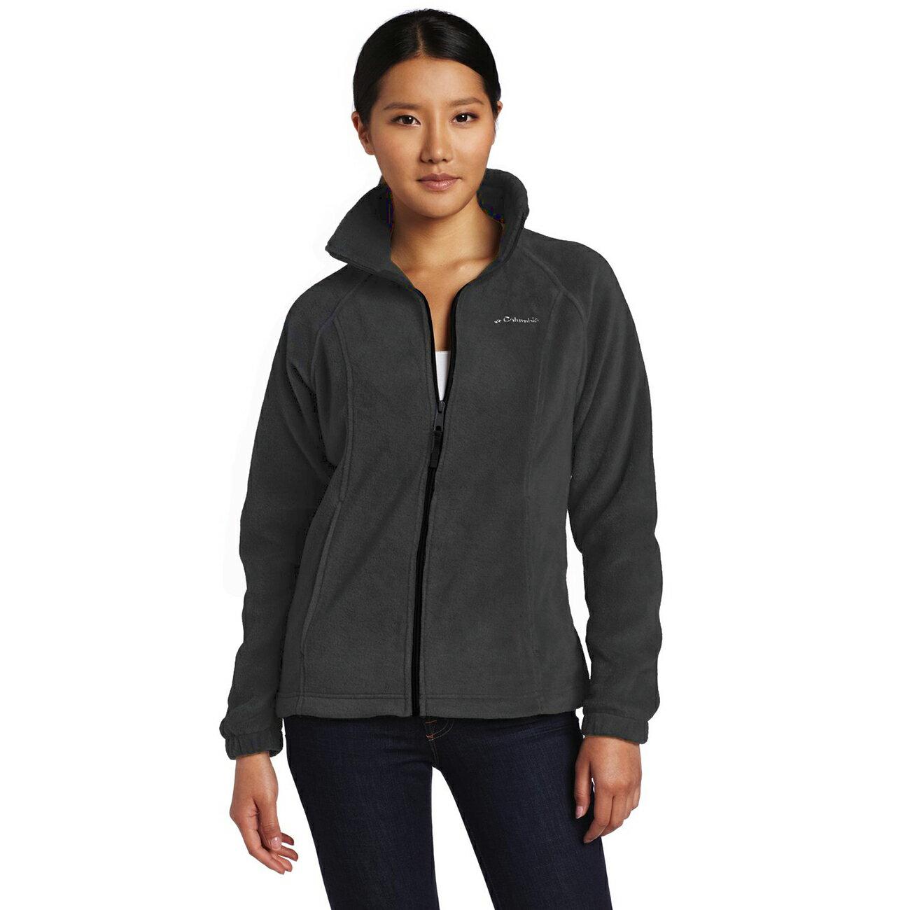 美國百分百【全新真品】Columbia 外套 刷毛 立領 輕巧 fleece 保暖 哥倫比亞 灰色 女 XS號 B534