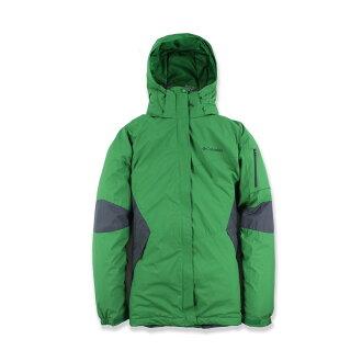 美國百分百【全新真品】Columbia 外套 哥倫比亞 保暖外套 連帽外套 風衣 綠色 XL號 女衣 D306