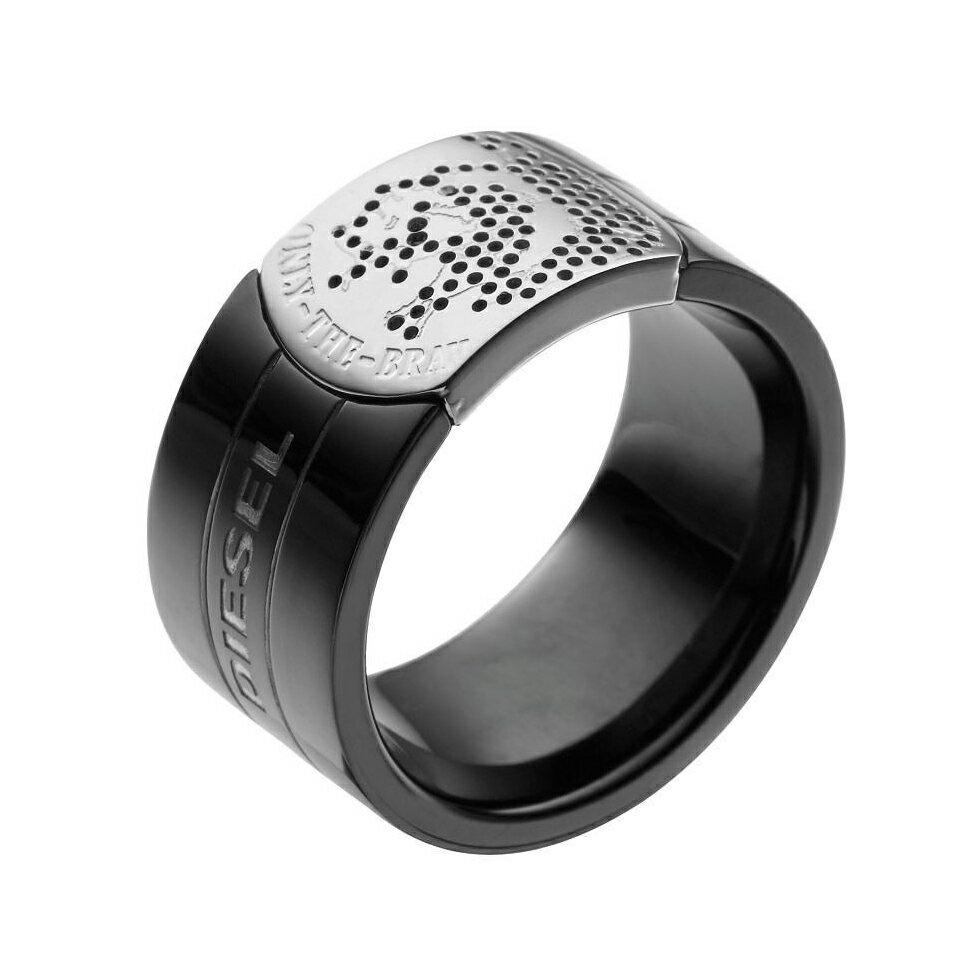 <br/><br/>  美國百分百【全新真品】Diesel 戒指 飾品 配件 金屬 前衛 時尚 潮流 設計 logo 專櫃 男 F522<br/><br/>