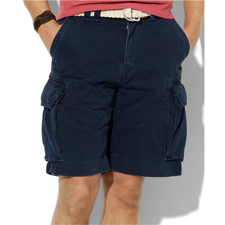 美國百分百【Ralph Lauren】褲子 RL 男褲 POLO 短褲 工作褲 深藍 29 31 32 42腰 A190