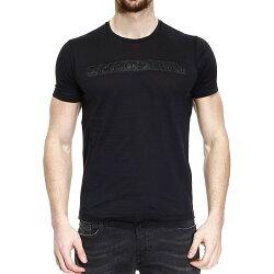 美國百分百【全新真品】Emporio Armani T恤 男 短袖 logo T-shirt EA 黑色 M號 F462