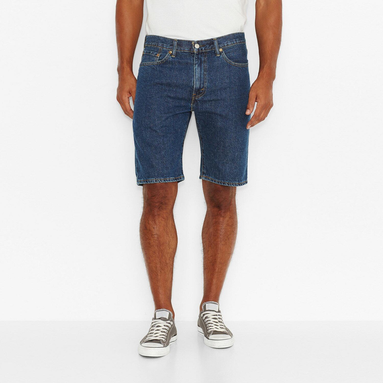 美國百分百【全新真品】Levis 505 牛仔 短褲 五分褲 牛仔褲 單寧 合身 深藍 30 32腰 F548