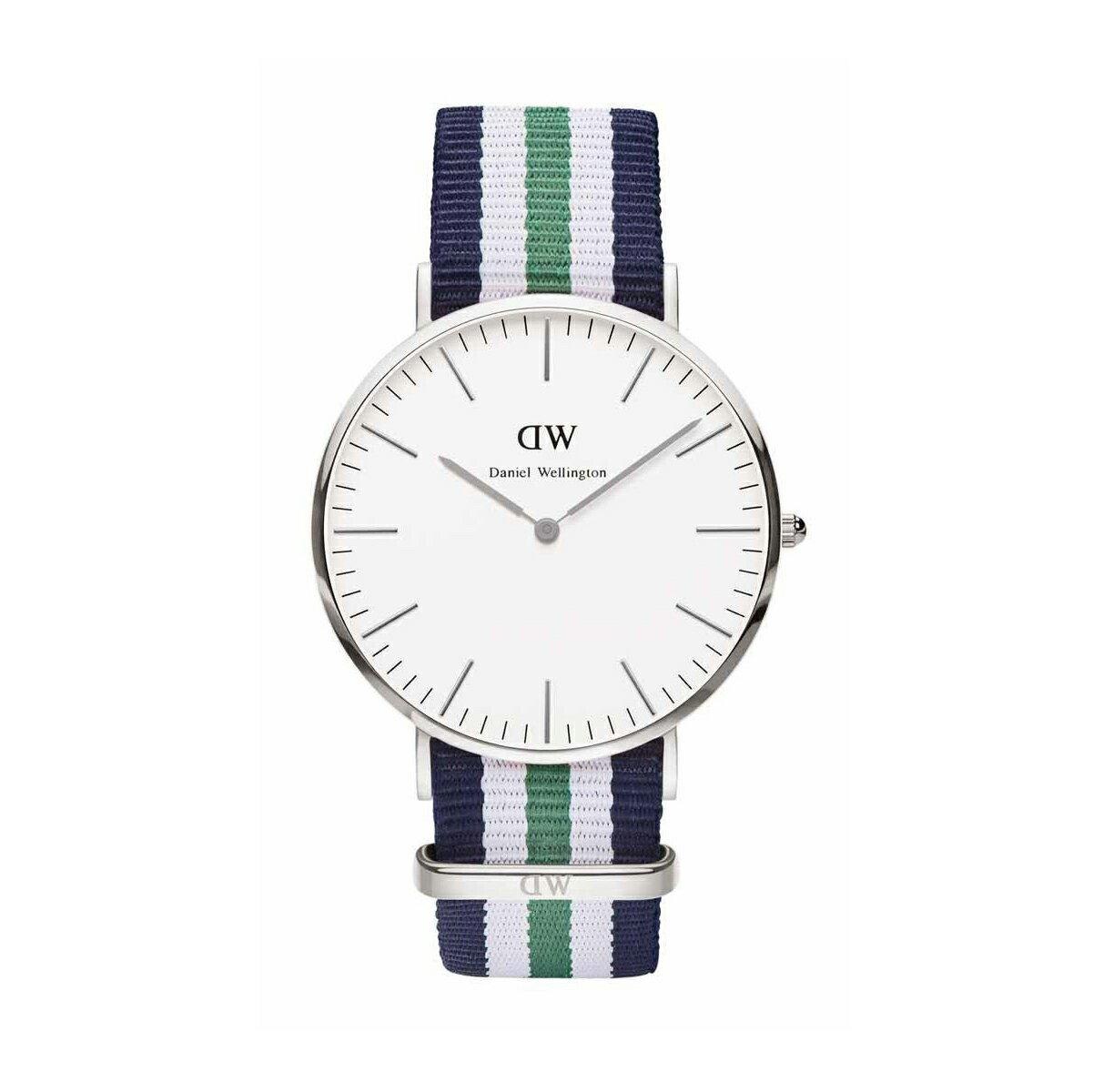 美國百分百【Daniel Wellington】DW 0208 Nottingham 手錶 男 女 腕錶 尼龍錶帶 藍綠