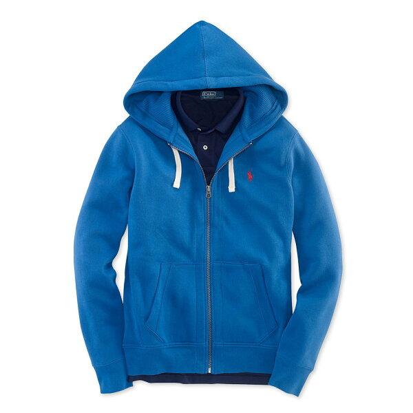 美國百分百【全新真品】Ralph Lauren 外套 RL 男生 連帽 夾克 polo 小馬 藍色 S號 B034