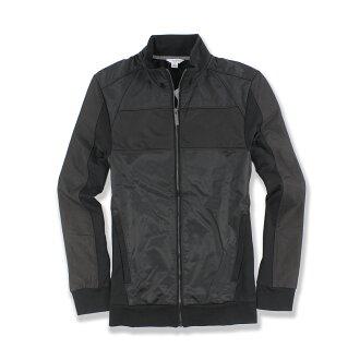 美國百分百【全新真品】Calvin Klein 外套 CK 夾克 立領 騎士 合身 尼龍 黑色 男 S M號 F585