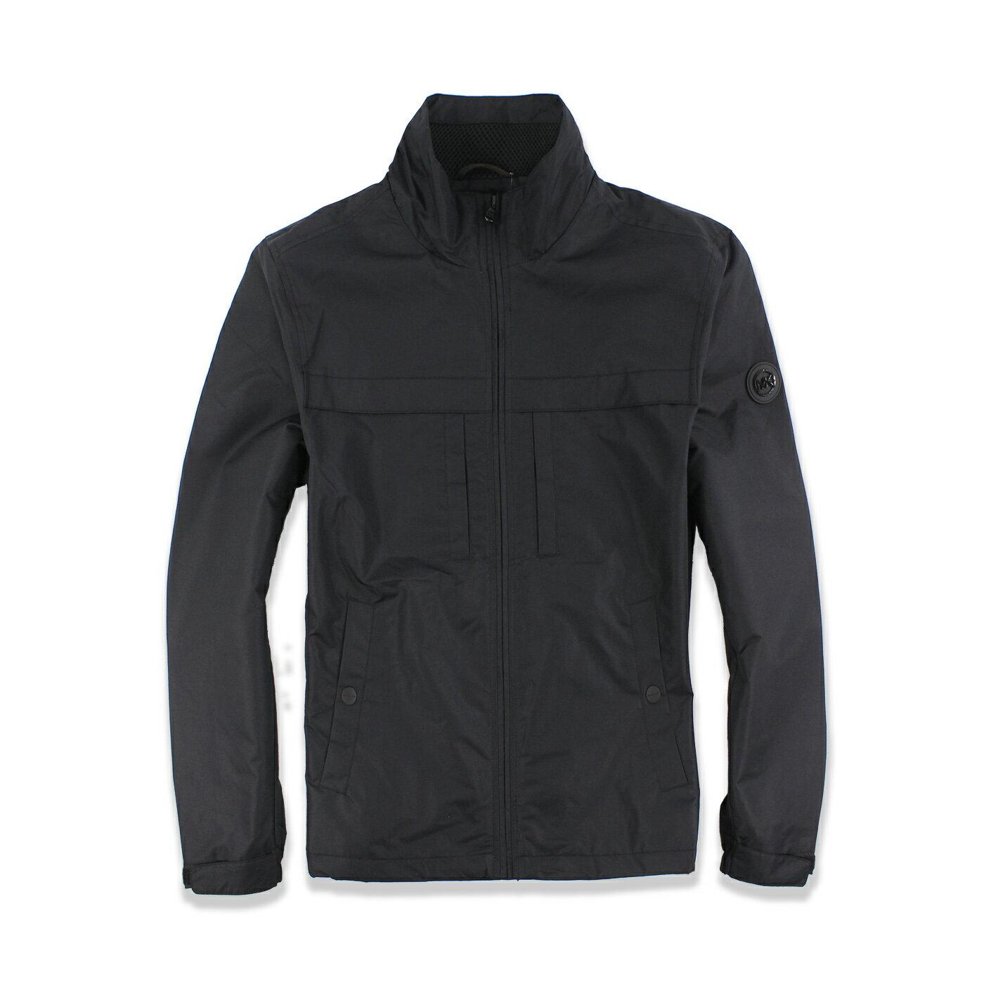 美國百分百【全新真品】Michael Kors 外套 MK 夾克 立領 休閒 商務 修身 風衣 黑色 男 M號 F588