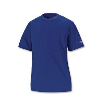 美國百分百【Champion】冠軍 T恤 短袖 T-shirt logo 素T 排汗 快乾 高磅數 寶藍 XS S號 F386