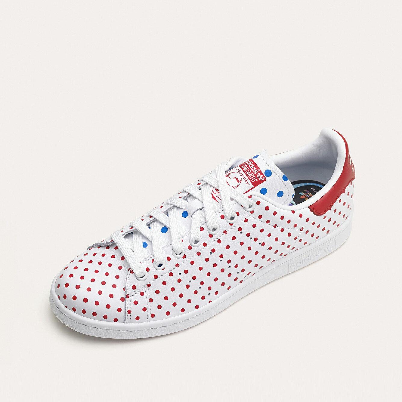 美國百分百【adidas】愛迪達 Pharrell 菲董 聯名款 點點 Stan Smith 鞋子 休閒運動鞋 US 7號、11號 F634