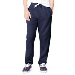 美國百分百【Ralph Lauren】棉褲 長褲 休閒褲 小馬 RL 刷毛 POLO 束口 運動褲 褲子 深藍 XS S號 F658