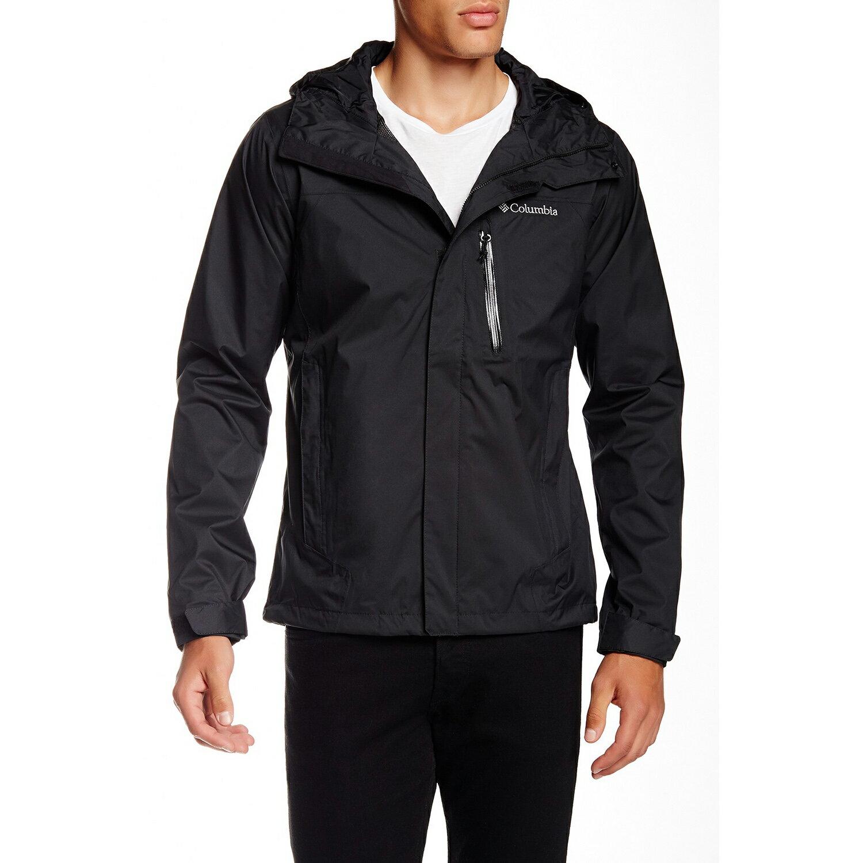美國百分百【全新真品】Columbia 外套 哥倫比亞 連帽 防水 防風 快乾 輕量 透氣 黑色 男 S號 F679