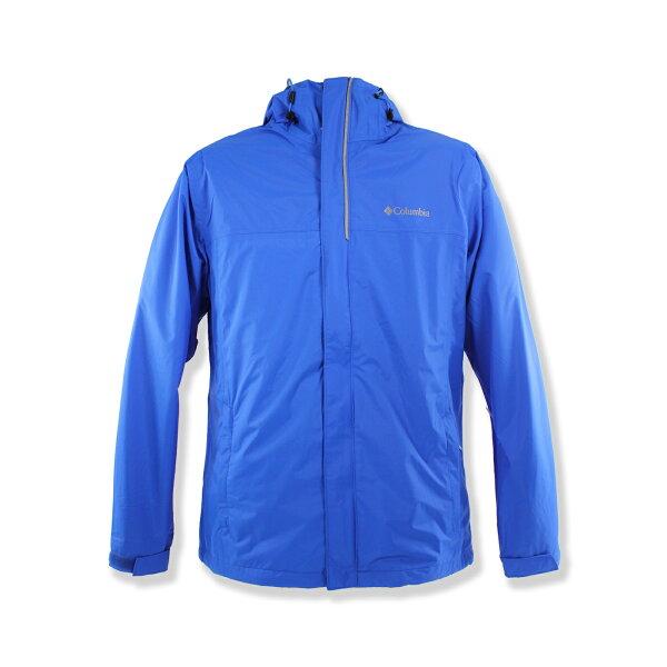 美國百分百:美國百分百【全新真品】Columbia外套哥倫比亞連帽防水防風快乾輕量透氣藍色男M號F680