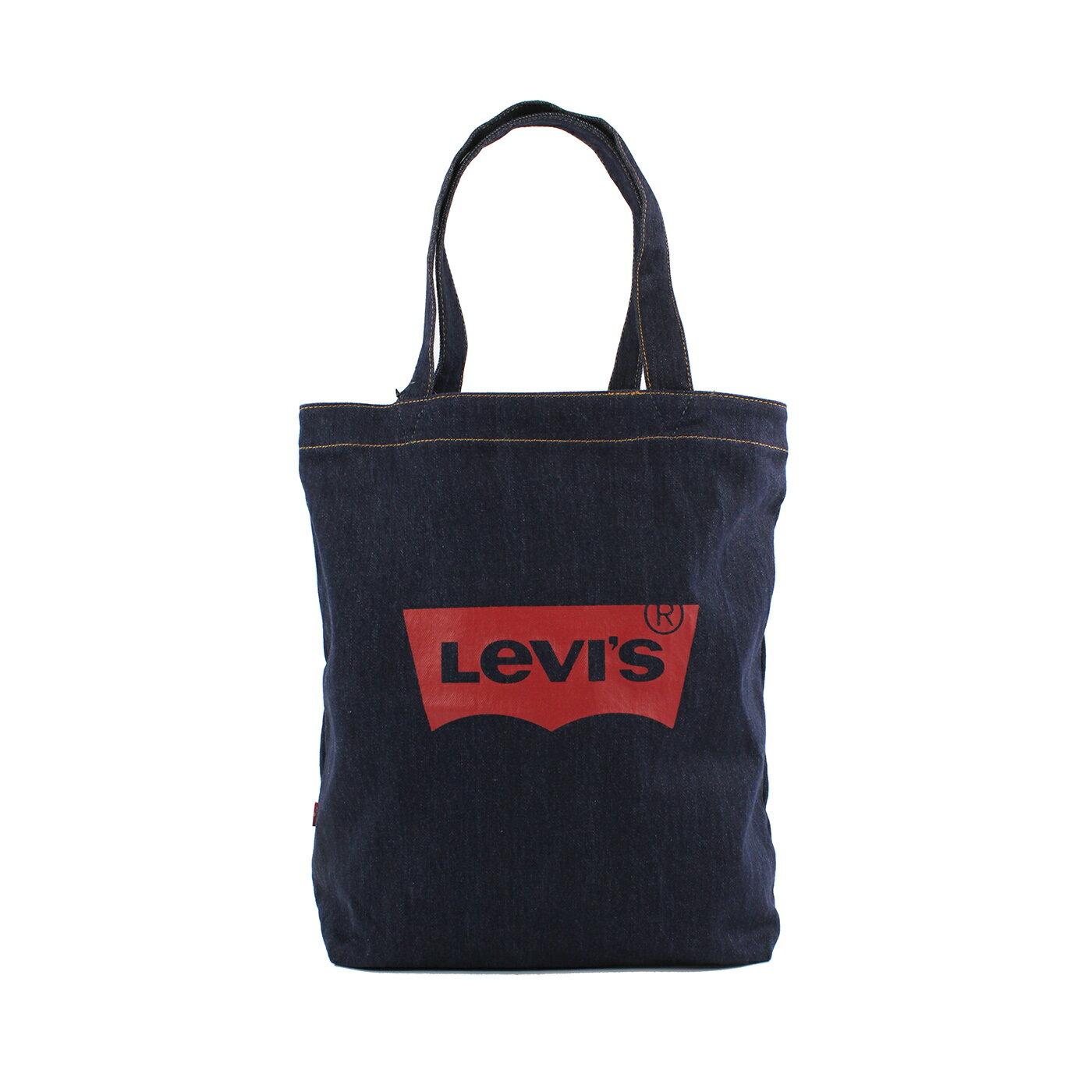 美國百分百【全新真品】Levis 手提包 手提袋 肩背包 帆布 外出包 托特包 牛仔布 單寧 深藍 F646