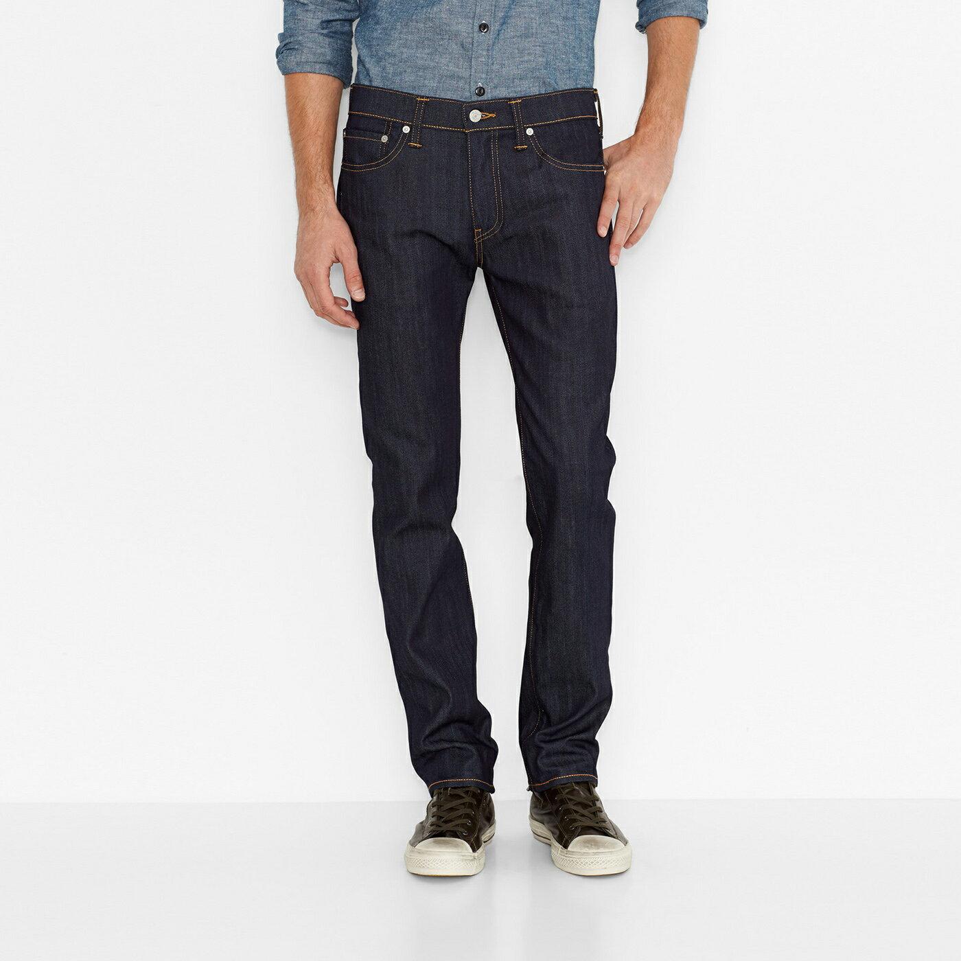美國百分百【全新真品】Levis 511 Slim Fit 男款 牛仔褲 直筒褲 合身 28腰 原色 深藍 E264