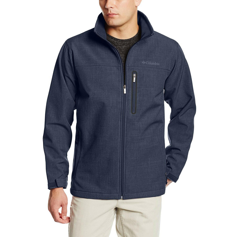 美國百分百【全新真品】Columbia 外套 哥倫比亞 刷毛 軟殼 防水 防污 保暖 牛仔布 深藍色 S號 F731