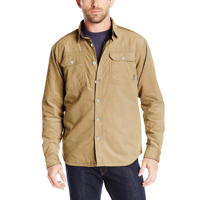 美國百分百【全新真品】Columbia 外套 哥倫比亞 刷毛 夾克 襯衫 保暖 燈芯絨 卡其色 S M號 F735