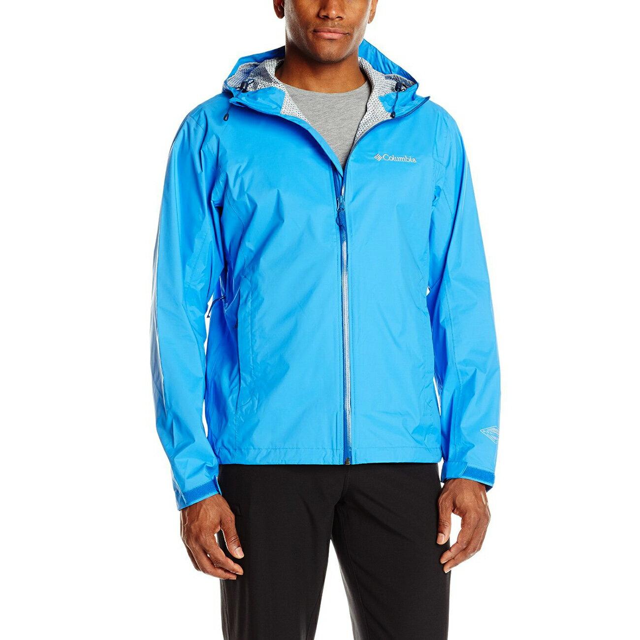 美國百分百【全新真品】Columbia 風衣 外套 哥倫比亞 防雨 多功能 防水 防污 防風 輕量 藍色 S號 F752