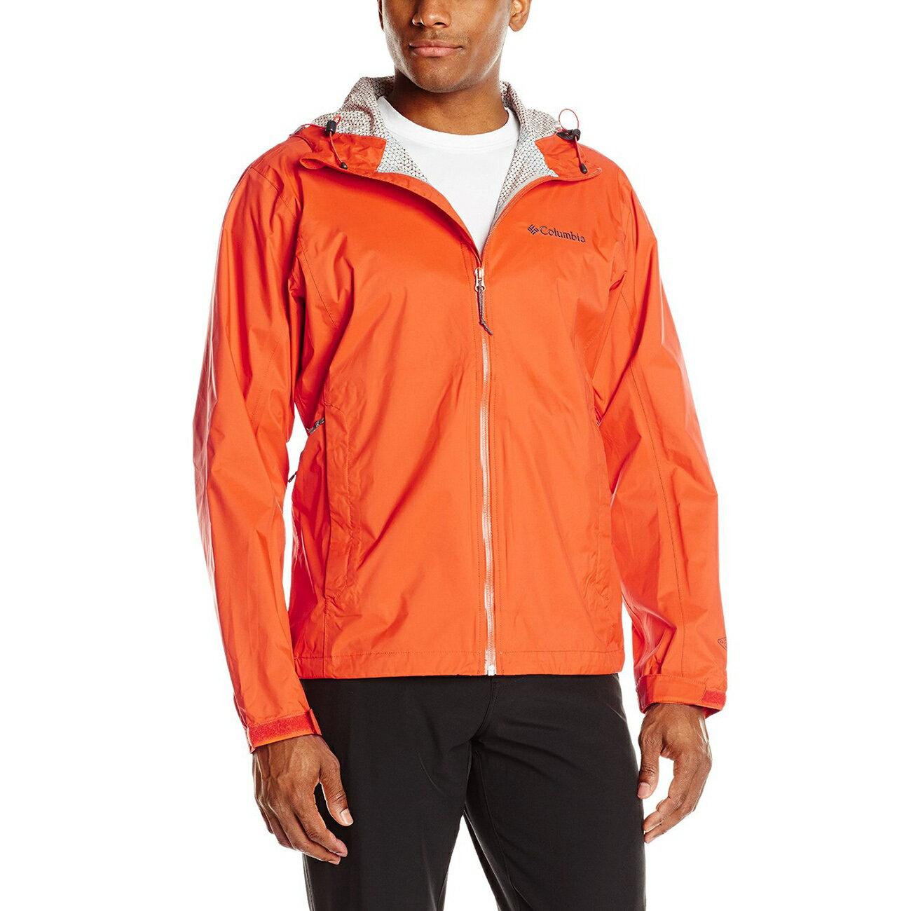 美國百分百【全新真品】Columbia 風衣 外套 哥倫比亞 防雨 多功能 防水 防污 防風 輕量 橘色 S號 F752