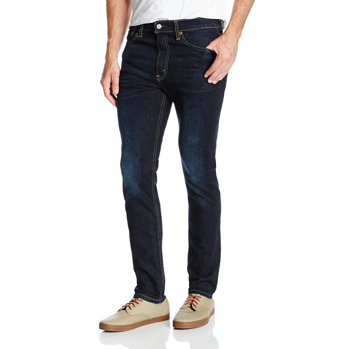 美國百分百【全新真品】Levis 510 Skinny Fit 男 牛仔褲 直筒 修身 窄版 單寧 深藍 刷白 28 29腰 E283