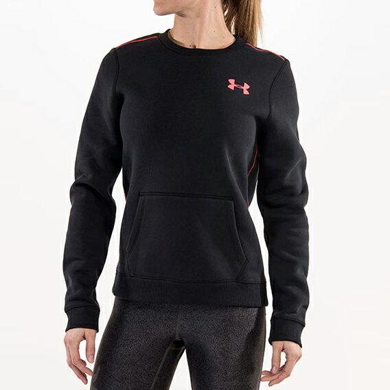 美國百分百【Under Armour】T-Shirt 運動時尚 UA T恤 長袖 刷毛 黑 排汗 S M號 女 F701