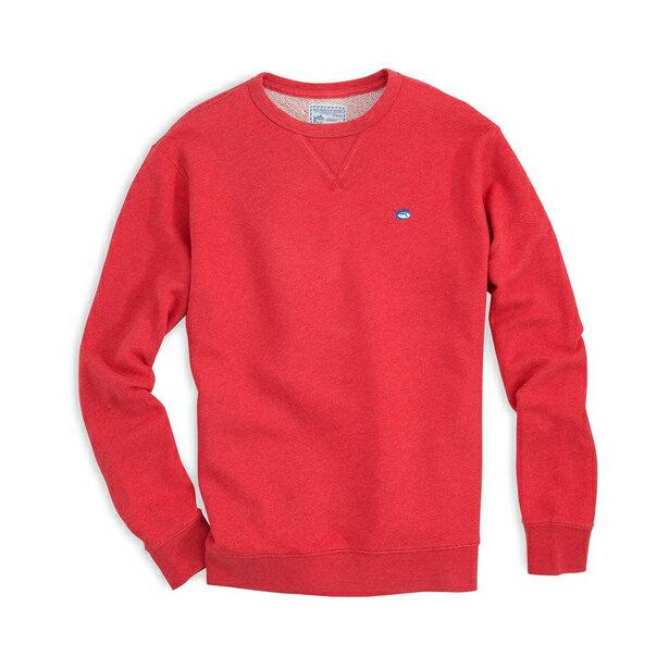 美國百分百【全新真品】Southern Tide T恤 T-shirt 大學T 長袖 圓領 XS號 紅色 F724