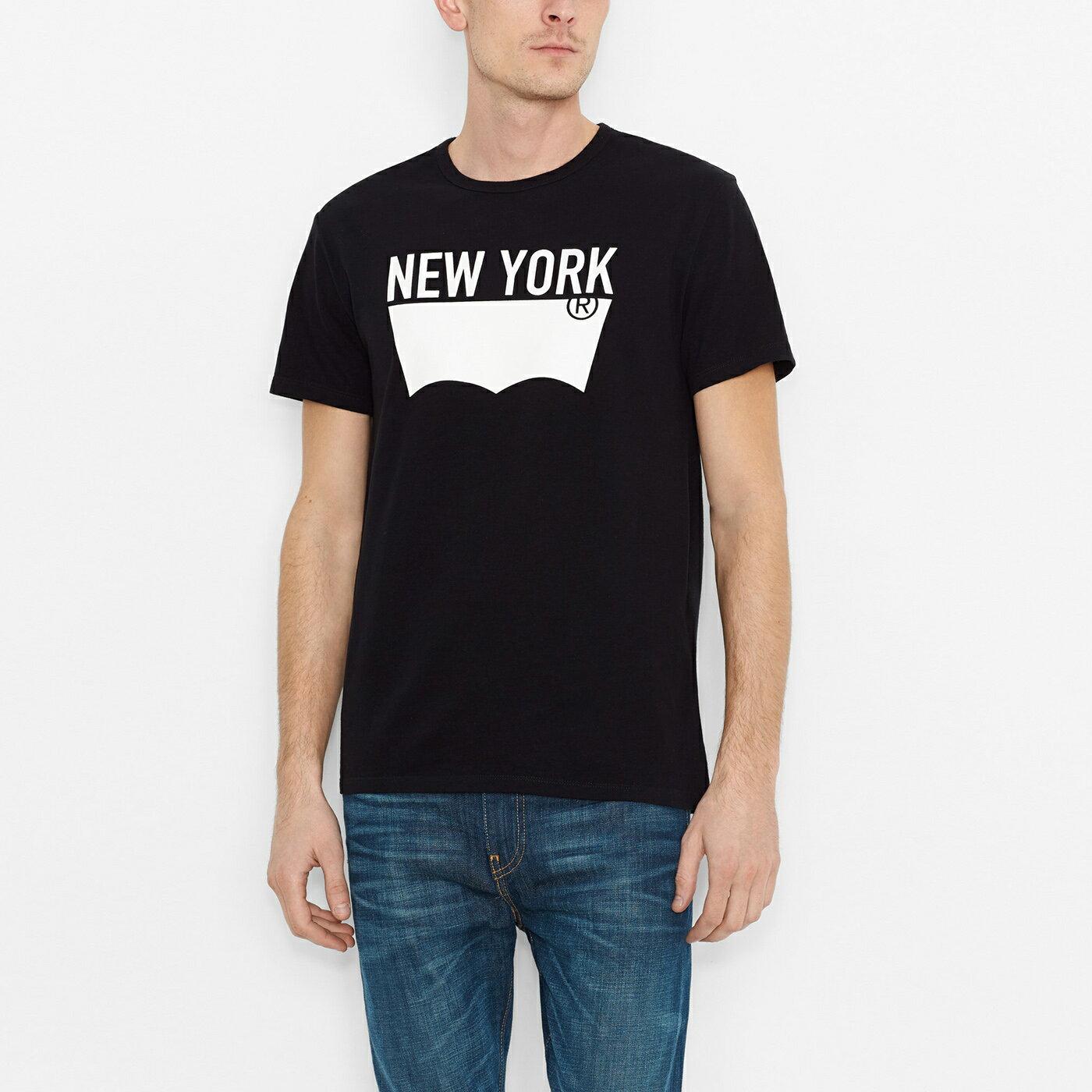 美國百分百【全新真品】Levis 短袖 T恤 logo 男 T-shirt 上衣 經典 tee 短T 黑 M號 F747